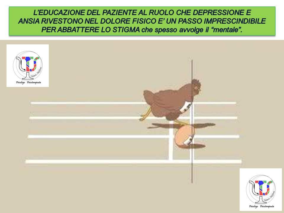 DEPRESSIONE E DOLORE stefano totaro psicologo